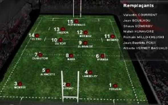 La composition du XV toulousain